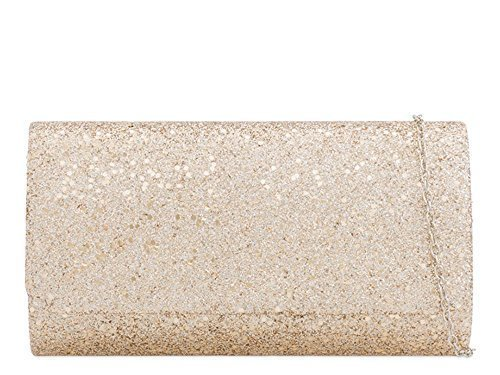 Party Shimmer Ladies Clutch Glitter Chain Champagne Bag Strap Evening S4SwIq6R