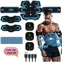 TouchSKY Electroestimulador Estimulador Muscular Abdominales, USB Recargable EMS Estimulador Abdominales Muscular…
