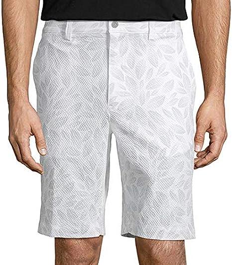 Amazon Com Pga Tour Men S Flat Front Printed Seersucker Short