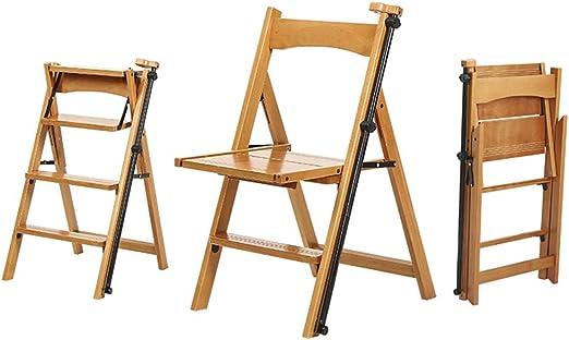 Step stool Taburete de Madera Maciza para el hogar Silla de Escalera de 4 peldaños con barandilla Escalera en Espiga Escalera Plegable Escalera de Madera Multiusos, Capacidad 150 kg: Amazon.es: Hogar