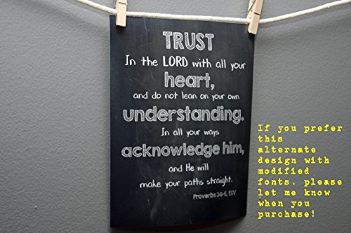 Proverbs 3:5-6 Movie Poster-Sized Print | Scripture Wall Art | Trust in the Lord with all your heart