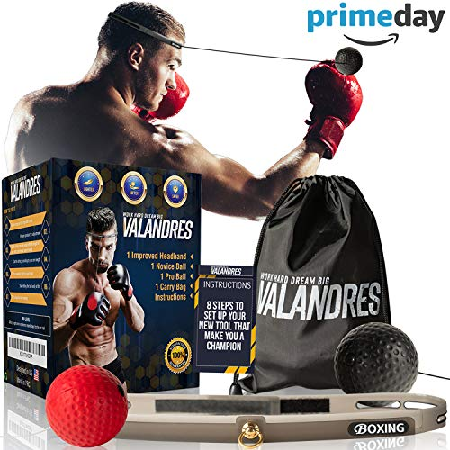 VALANDRES Boxing Reflex Ball Complete Bundle – Premium Reflex Ball Boxing Equipment for Hand-Eye Coordination Training