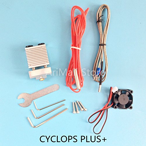 WillBest 3D Printer Parts Cyclops and Chimera 2 in 1 Out hot end Dual Color Single Head Extruder by WillBest