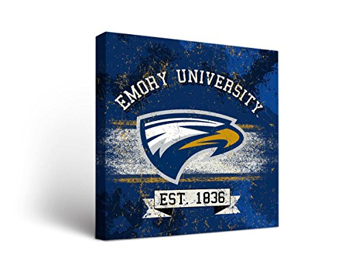 Emory Wood - Emory University Eagles Canvas Wall Art Banner Design (24x36)
