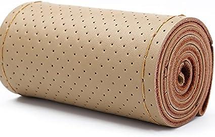 XuanMax DIY Funda para Volante Coche Cosida Universal 38cm Cuero ...