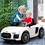 Costzon Kids Ride On Car, 12V Licensed Audi R8 Battery Powered Vehicle w/