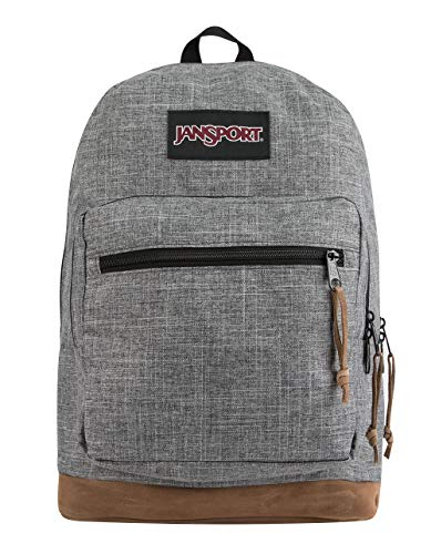 (JanSport Right Pack Digital Edition Laptop Backpack - Grey Heathered 600D)