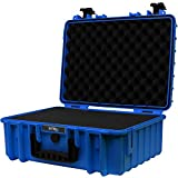 STR8Brand 17'' Weather Resistant, Smellproof, Lockable, Glass Protector, Outdoor Carrying Case for Multi-Purpose with Pluck Foam (Cobalt Blue) - STR8 Brand