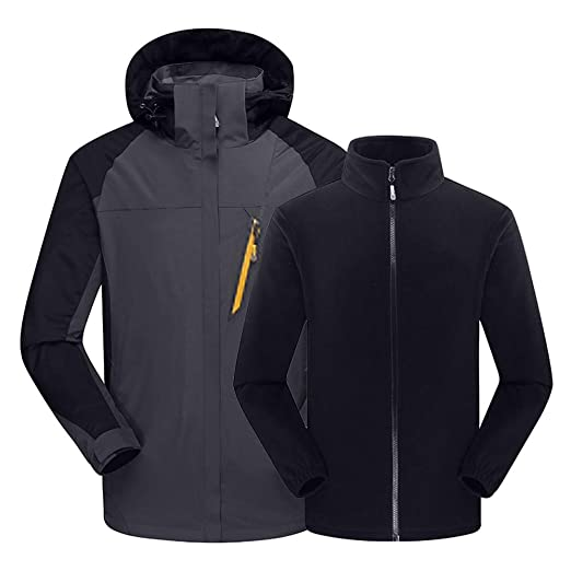 Amazon.com: certainPL Mens Ski Waterproof 3 in 1 Jacket ...