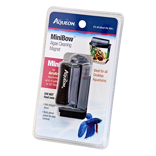 Aqueon Acrylic Aquarium Algae Cleaning Magnet, Acrylic Mini Bow
