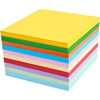 HEALLILY 1000pcs Children Origami Paper Double Sided Folding Paper Colorful DIY Origami Paper Sheets For Arts Crafts Office School (Mixed Color)