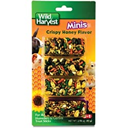 Wild Harvest Small Animal Honey Mini Sticks, 3.25 oz | Gerbils & Guinea Pigs, Hamsters & Rodents