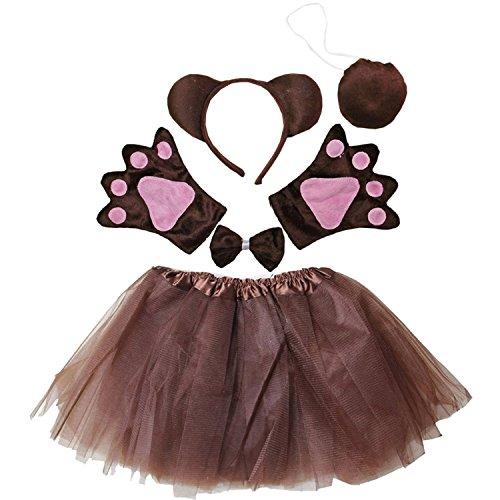 Kirei Sui Kids Costume Tutu Set Brown Bear ()