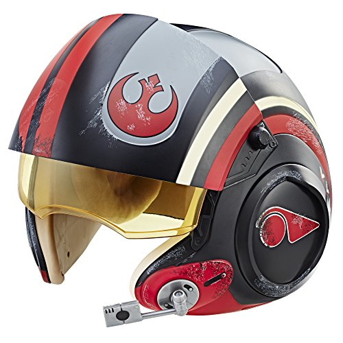 Star Wars The Black Series Poe Dameron Electronic X-Wing Pilot Helmet]()