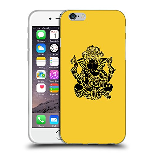 GoGoMobile Coque de Protection TPU Silicone Case pour // Q08150611 Hindou 6 Banane Jaune // Apple iPhone 7