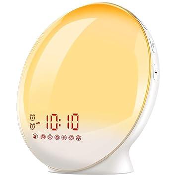Amazon.com: Reloj despertador para niños con simulación de ...