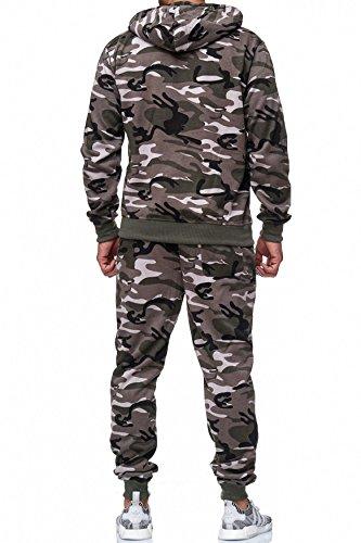 De Costume Pantalons Set Survetement Hommes Sport Noir Jogginganzüge Camouflage Jogging Arizonashopping Fitness kaki H2024 Les Capuche Zip p80tSnX