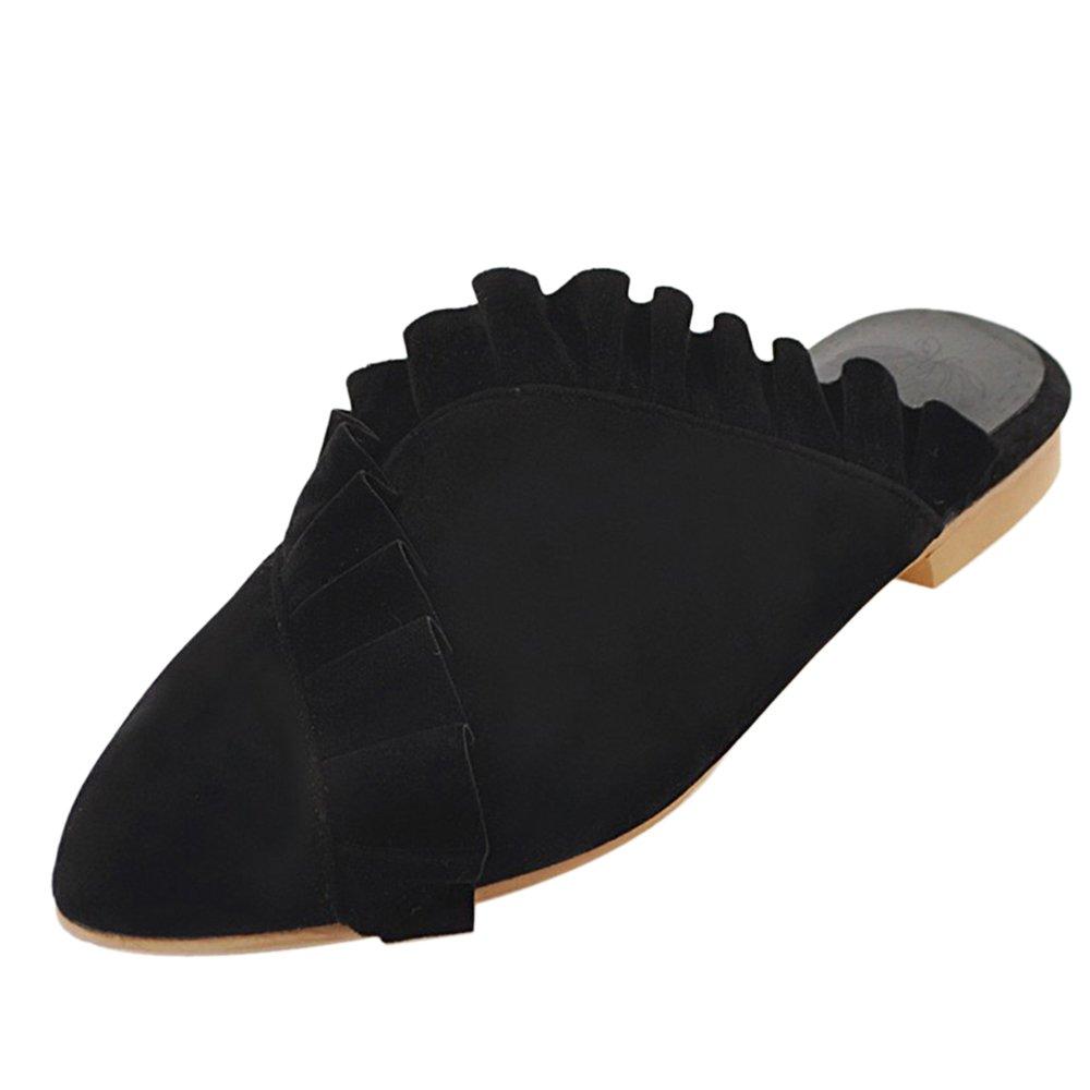 JOJONUNU Femmes Talons Black Bas Talons Mules Sandales Femmes Black f7ce93a - automaticcouplings.space