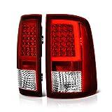 VIPMOTOZ OLED Neon Tube Tail Light Lamp For 2009-2018 Dodge RAM 1500 2500 3500 - [Factory Incandescent Model] - Rosso Red Lens, Driver & Passenger Side