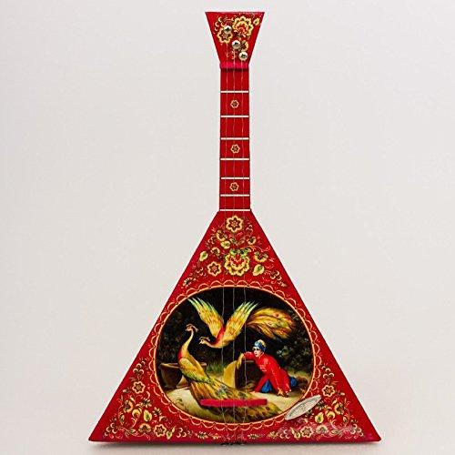Balalaika Music Box 'Firebird' Red