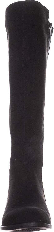 Black Micro Size 6.5 Alfani Womens pippaa Almond Toe Knee High Fashion Boots