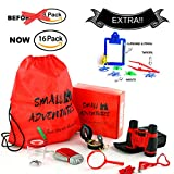 16 in 1 Outdoor Exploration Kit - Children's Toy Binoculars Set for Kids - Flashlight, Compass, Whistle, Magnifying Glass and more. Kids Set for Camping, Hunting, Hiking & Bird Watching. Pretend Play