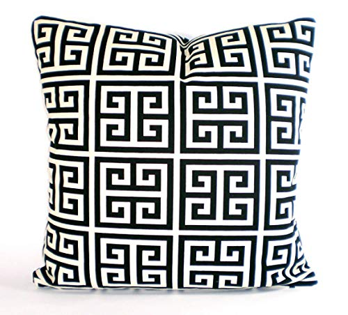 Black Cream Decorative Throw Pillow Covers Cushions Black Cream Natural Greek Key Towers Couch Bed Pillow Throw Pillow Various Sizes
