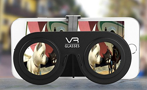 "3D Virtual Reality Glasses Mini Portable VR Fold Glasses For 4.0""-6.5"" Mobile Phone With Glasses Frame and Hold"