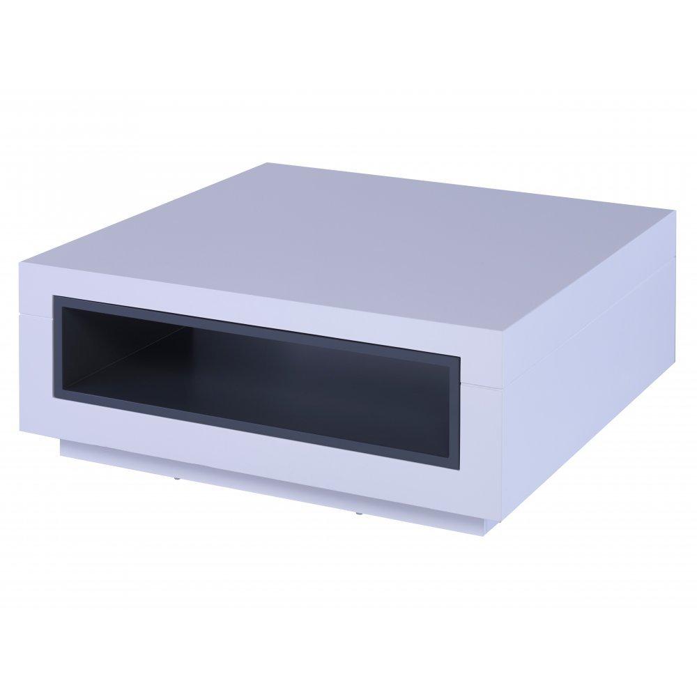 Gillmore Space Weiß und Graphit grau Akzent Contemporary Square Couchtisch