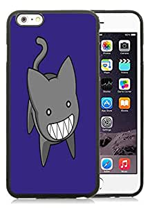 Fashionable DIY Custom Designed Azumanga Cat Cover Case For iPhone 6 Plus 5.5 Inch Black Phone Case CR-054