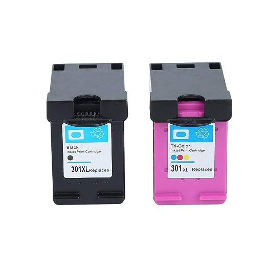 Hehilark - Cartucho de Tinta para Impresora HP 301XL Deskjet ...