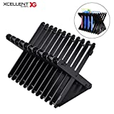 Xcellent Global CD Racks Multi-angle Universal Disc Storage Holder, Folding Game Storage Stand for Switch, PS4, PS4 Pro, Xbox one, Xbox 360, DVDs, PS4 and Xbox Video Games HG258