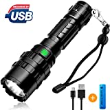 [2019 NEWEST]Brionac Rechargeable LED Tactical Flashlight, Waterproof Flashlight High Lumen Super Bright Pocket-Sized