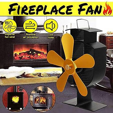 Heat Powered Stove Fan Wood Log Burner Fireplace Eco Friendly Fan Saving Ecofan