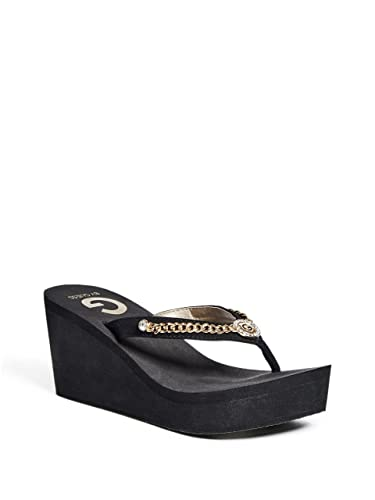 b216bd2ae G by GUESS Women s Eva Wedge Sandals Black