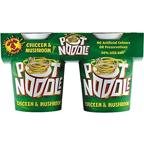 Pot Noodle Chicken & Mushroom Flavour (4x90g)