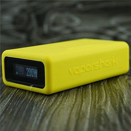 Silicone Case for VaporShark DNA200 & DNA250 Vapor Shark DNA 200 & DNA 250 Sleeve Cover Skin Wrap (Yellow)