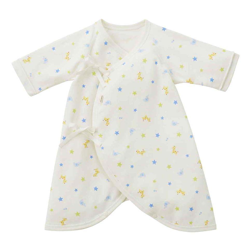各上院議員結紮新生児肌着 6枚組 赤ちゃん コンビ肌着 短肌着 綿100% ベビー服 長袖ロンパース カバーオール ロンパース 前開きタイプ 肌着パジャマ 可愛いプリント 通年素材 ブルー