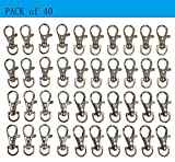 Prudance 40pcs Silver Chrome Swivel Eye Lobster