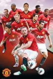 England Manchester United Players (2012-2013) English Football Soccer Sports Fan Poster Print 24x36