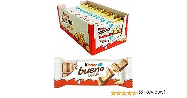 KINDER BUENO BLANCO 2 BARRITAS 43 GR - CAJA DE 30 UDS: Amazon.es ...