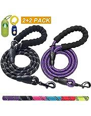 ladoogo Heavy Duty Dog Leash with Padded Handle 5 ft Long Dog Training Walking Leashes for Medium Large Dogs