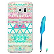 Mingus Case for Galaxy S7 Painted Relief PC Hard Plastic Case Cover Protective Sleeve Protection Shell with Feather...