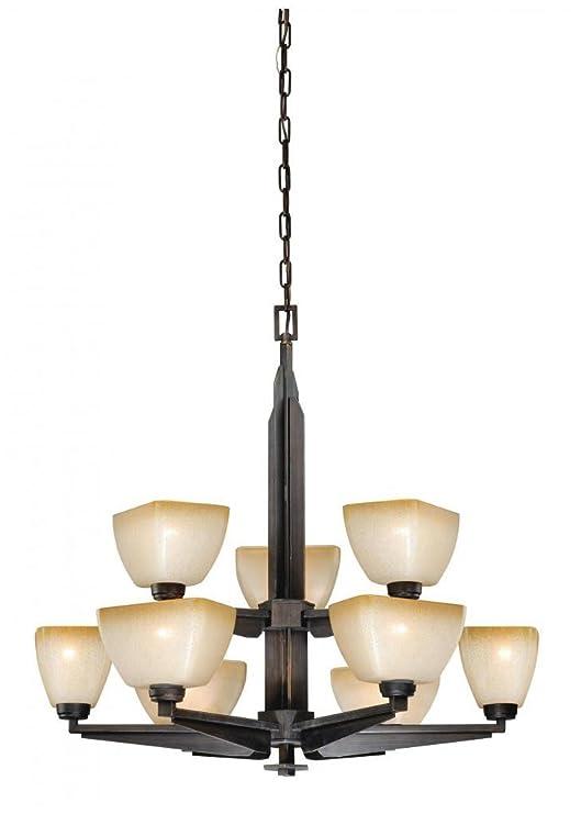 Amazon.com: Vaxcel iluminación h0117 Descartes II 9 Luz Dos ...