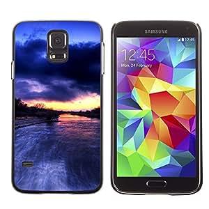 [Neutron-Star] Snap-on Series Teléfono Carcasa Funda Case Caso para Samsung Galaxy S5 [Río Amazonas Lluvia Nubes Naturaleza]