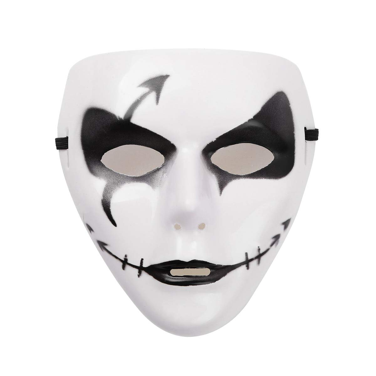 YiZYiF Halloween Mask Full Face Scary Ghost Mask Cosplay Costume for Masquerades Carnival Party Dancing Performance White&Black One Size