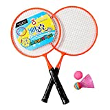 Kid's Badminton Sets Children Indoor/Outdoor Sports Toy Ball Game-Orange/Black