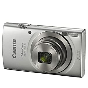 Canon PowerShot ELPH 180 Digital Camera (Silver) + Transcend 16GB Memory Card + Point & Shoot Camera Case + USB Card Reader + LCD Screen Protectors + Memory Card Wallet + Cleaning Pen + Accessory Kit by Canon