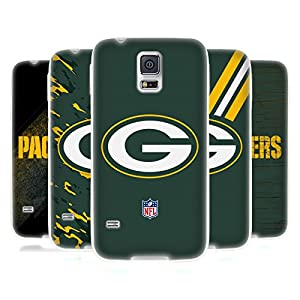 Official NFL Green Bay Packers Logo Soft Gel Case for Samsung Galaxy S5 / S5 Neo from Head Case Designs
