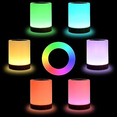 KJRJXD Lámpara de la Noche del Sensor de luz LED táctil lámpara de ...